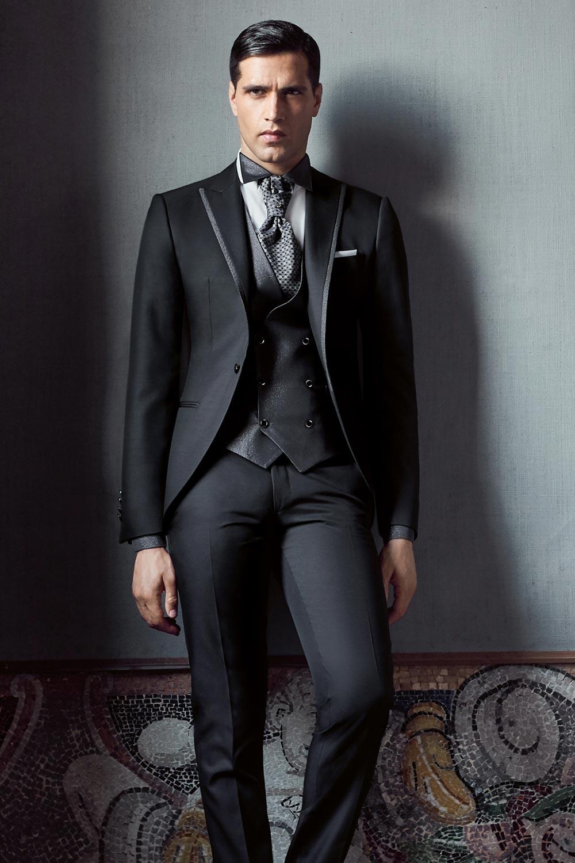 40615cae4e17 abito-da-sposo-nero-lubiam-03 - Marchi Abbigliamento